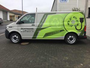Fahrzeugbeschriftung: VW T6 für Hoppmann Autowelt