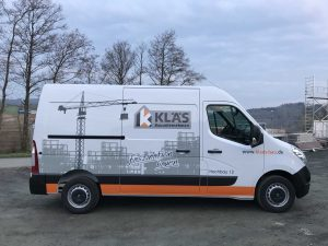 KFZ-Beschriftung: Renault Master für Klär Bau