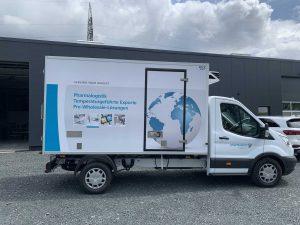 KFZ-Beschriftung: Transitkühl-LKW für Pharmaserv Logistik