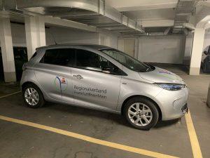 Fahrzeugbeschriftung: Renault ZOE für Regionalverband FrankfurtRheinMain